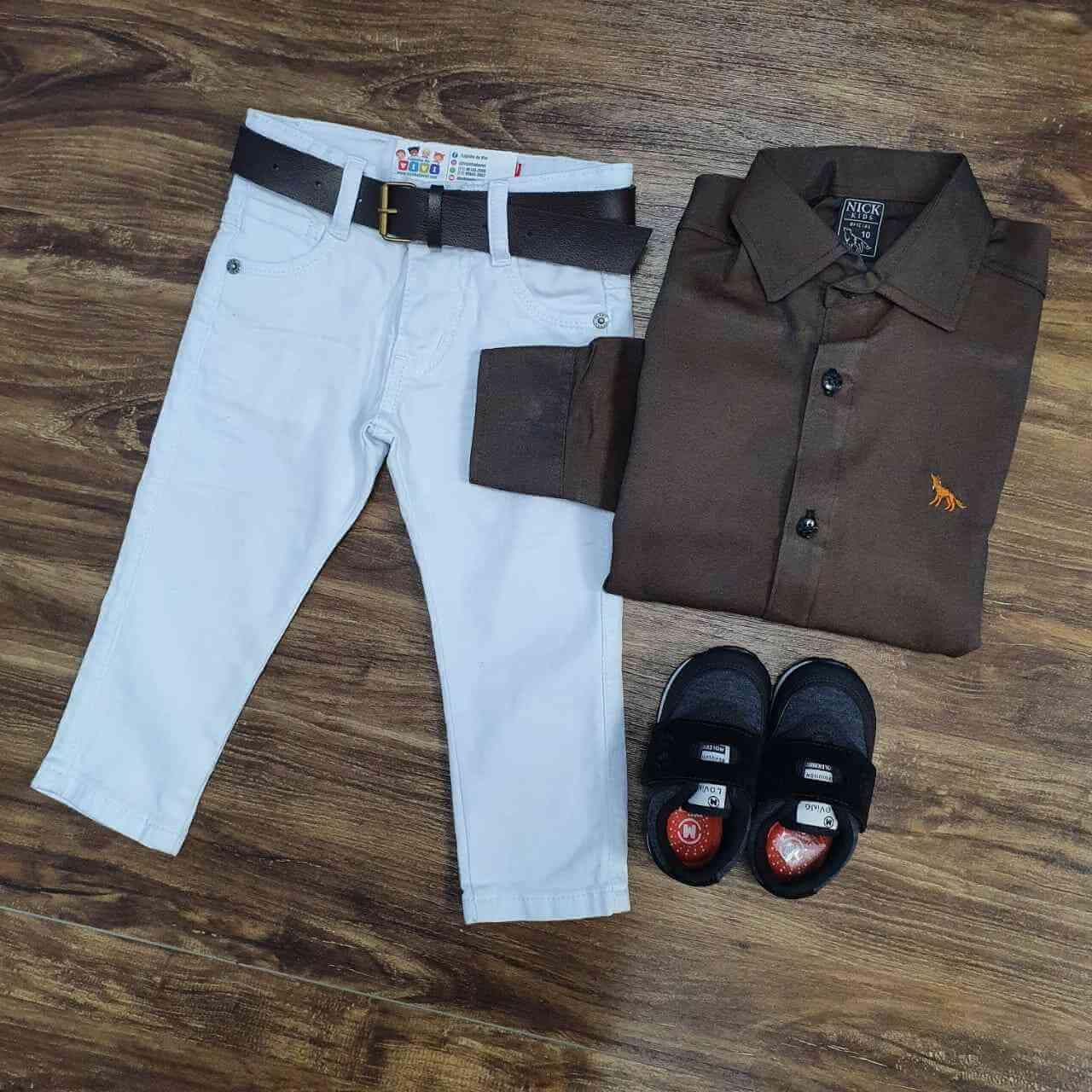 Calça com Camisa Manga Longa Infantil