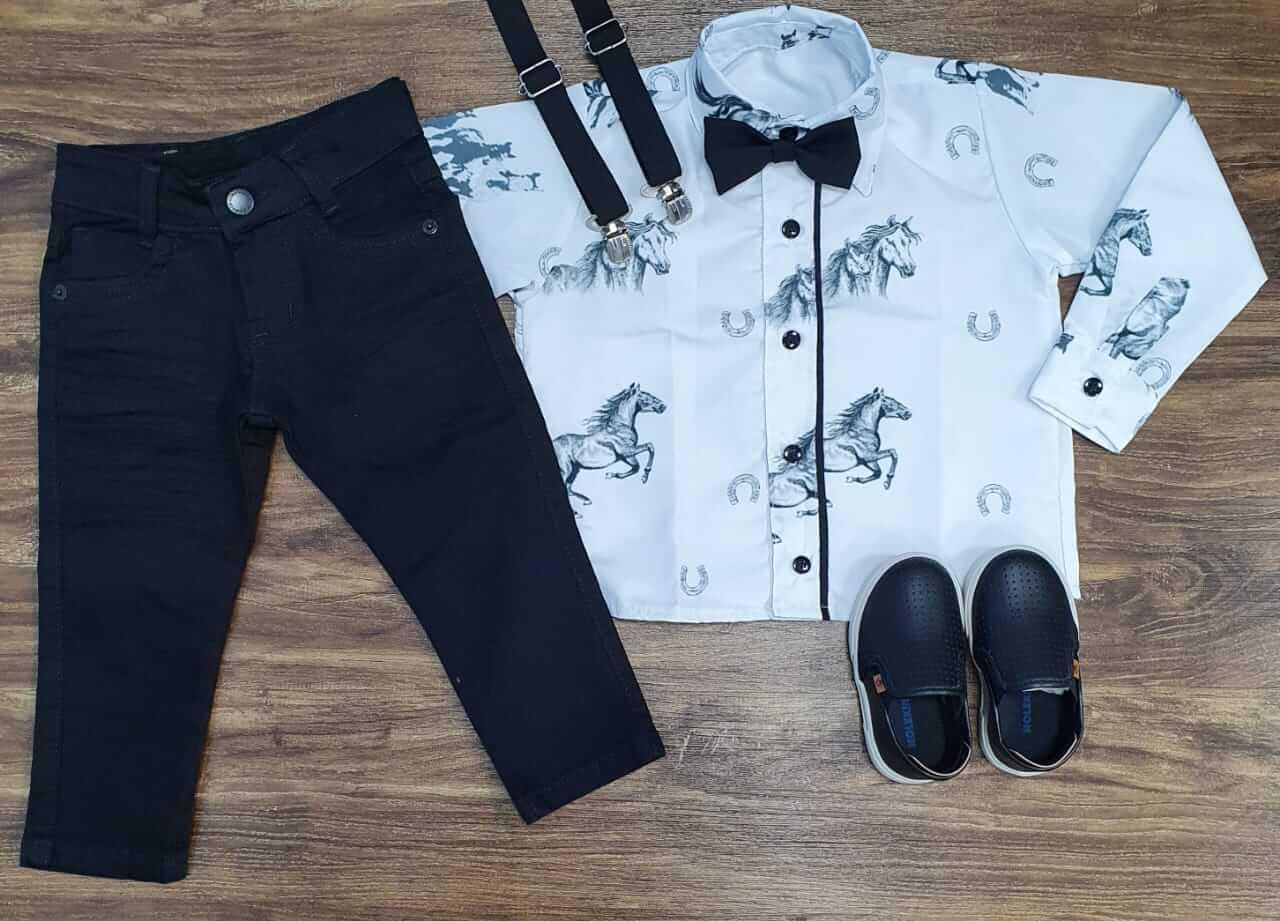 Calça com Camisa Vila Country Infantil