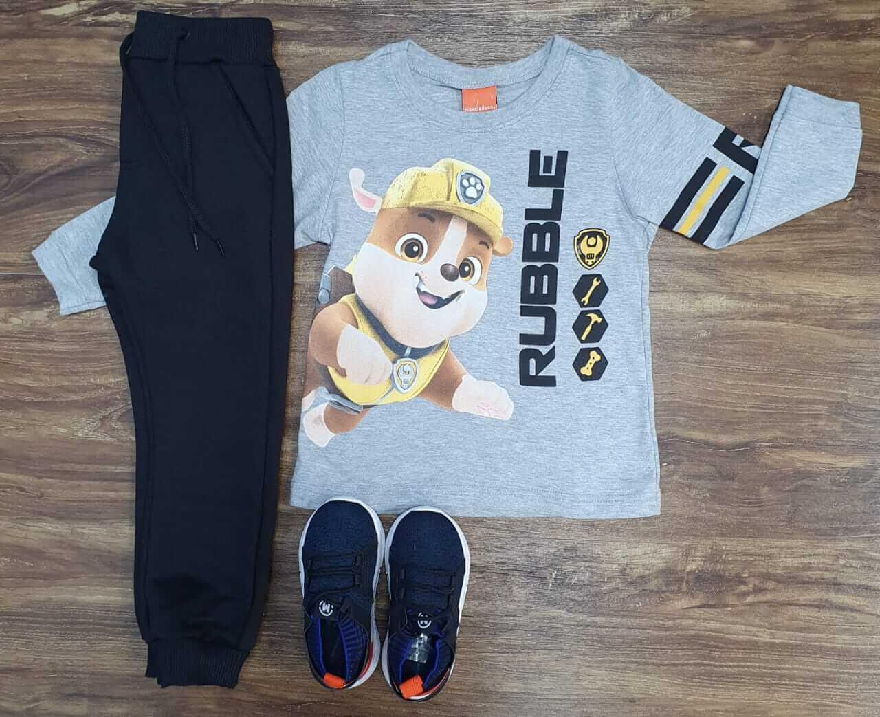 Calça com Camiseta Patrulha Canina Infantil