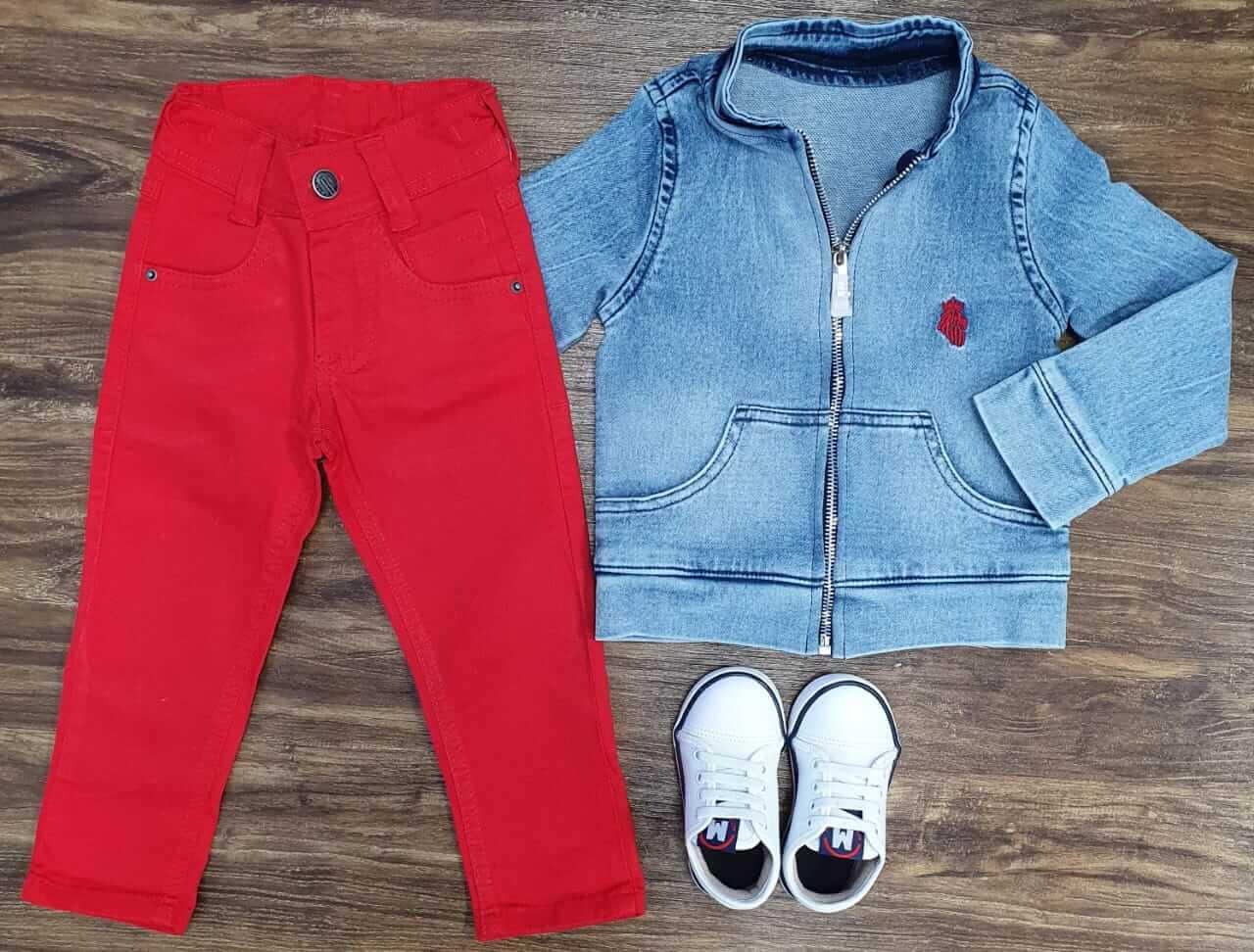 Calça Com Jaqueta Jeans Infantil