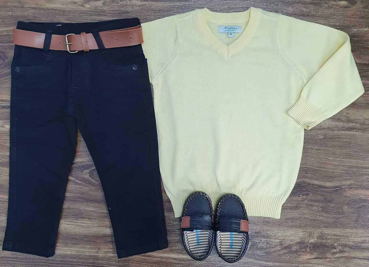 Calça Jeans com Suéter Infantil