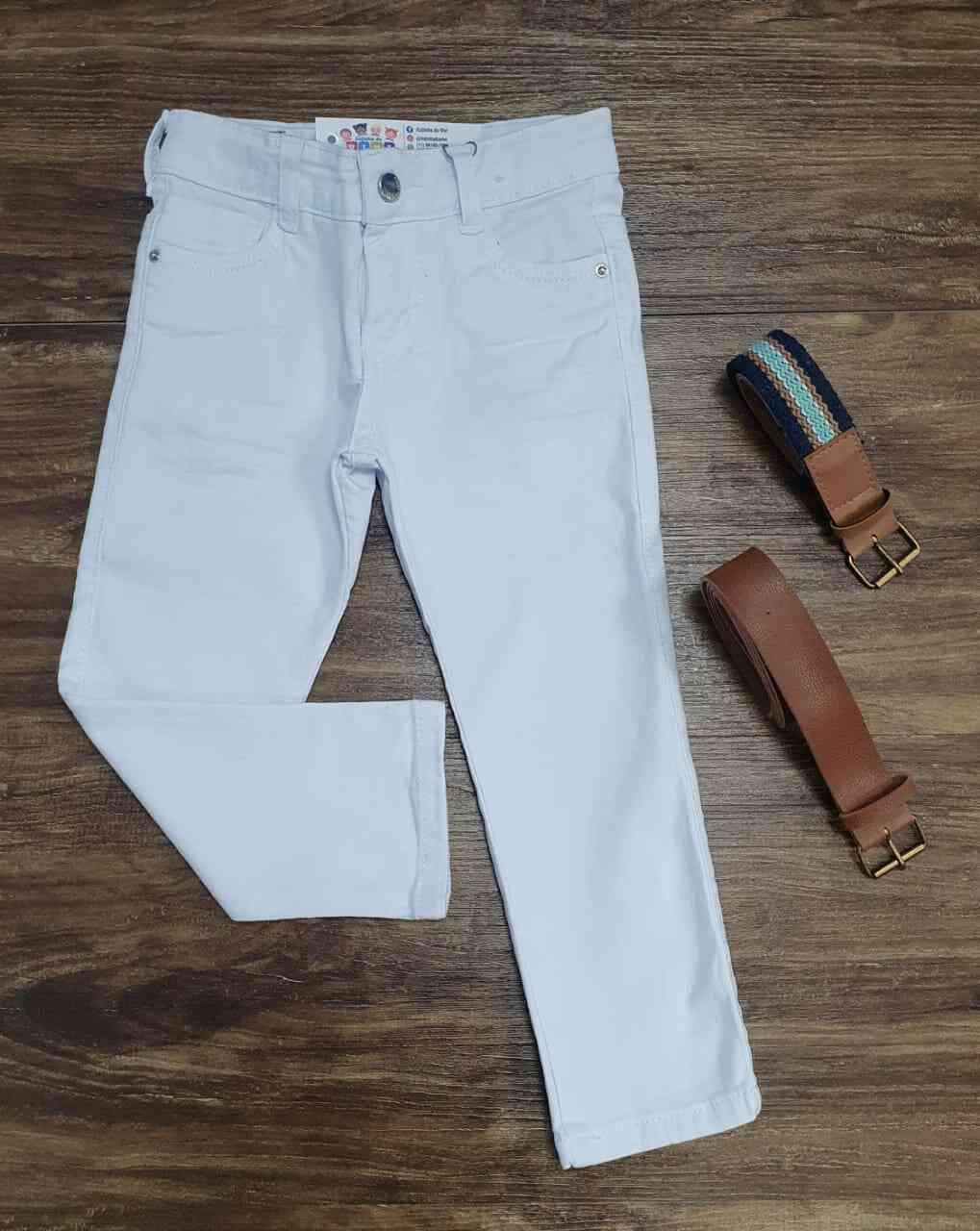 Calça Jeans Branca Infantil