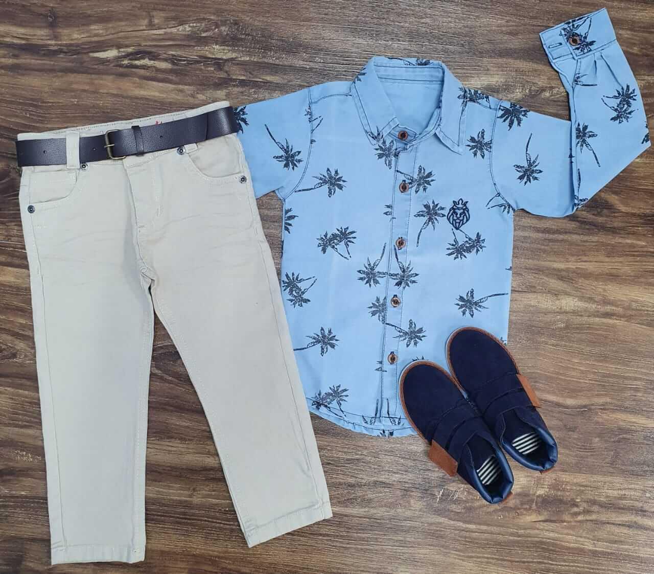 Calça Jeans com Camisa Coqueiros Infantil