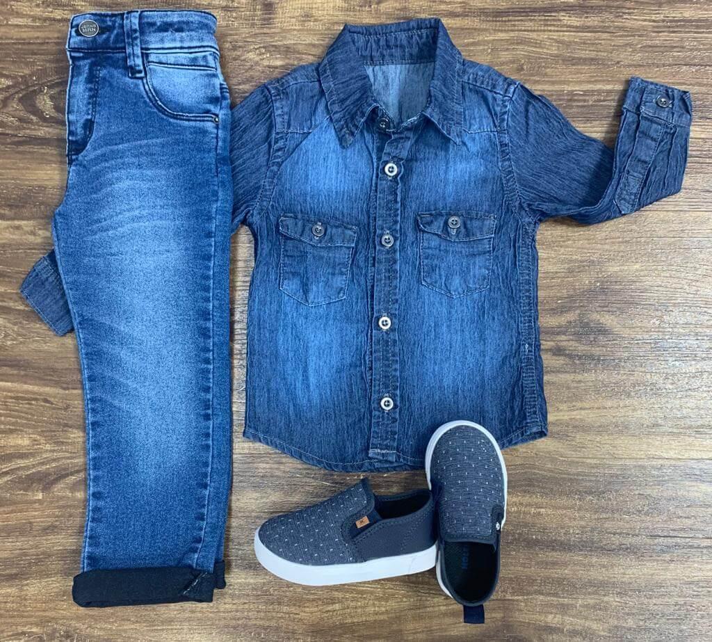 Calça Jeans com Camisa Jeans