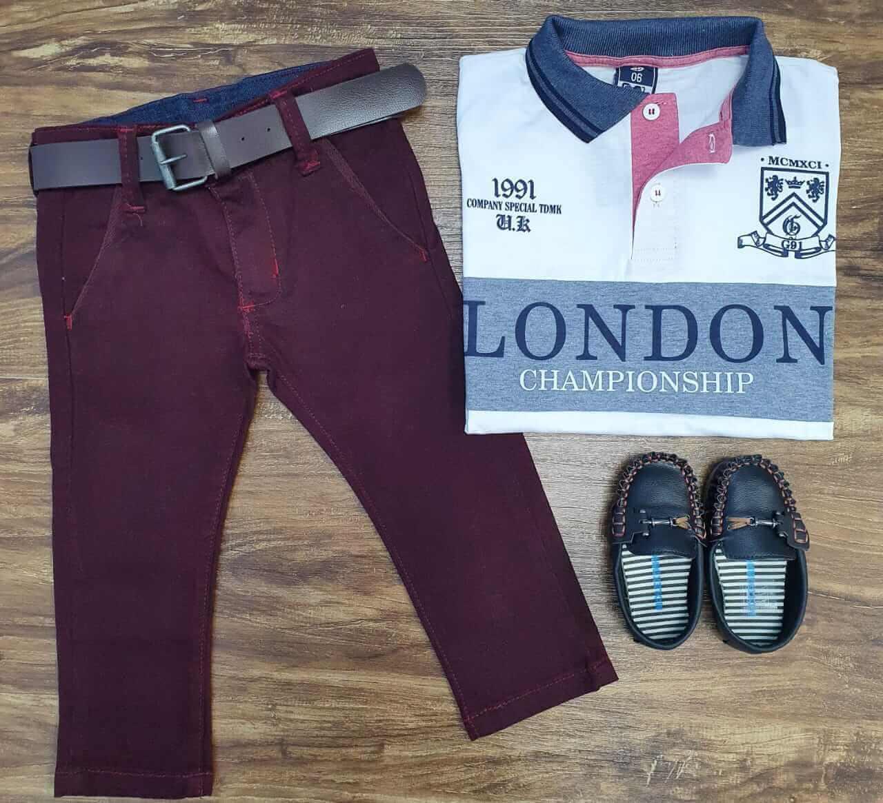 Calça Jeans com Camisa Polo London