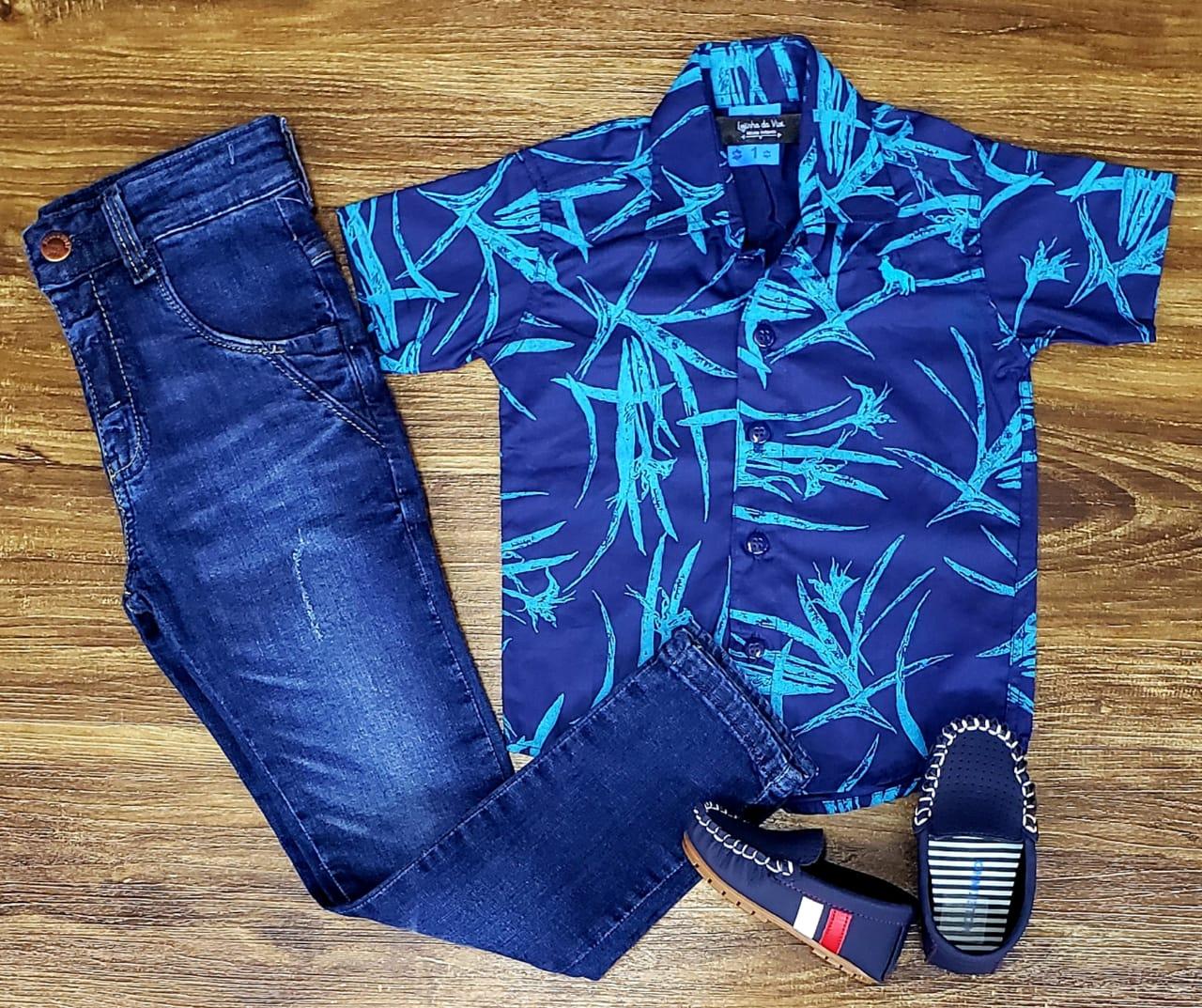 Calça Jeans com Camisa Social