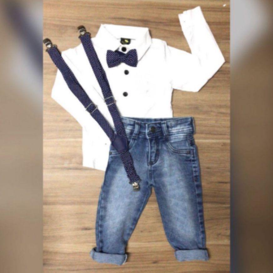 Conjunto social fashion infantil