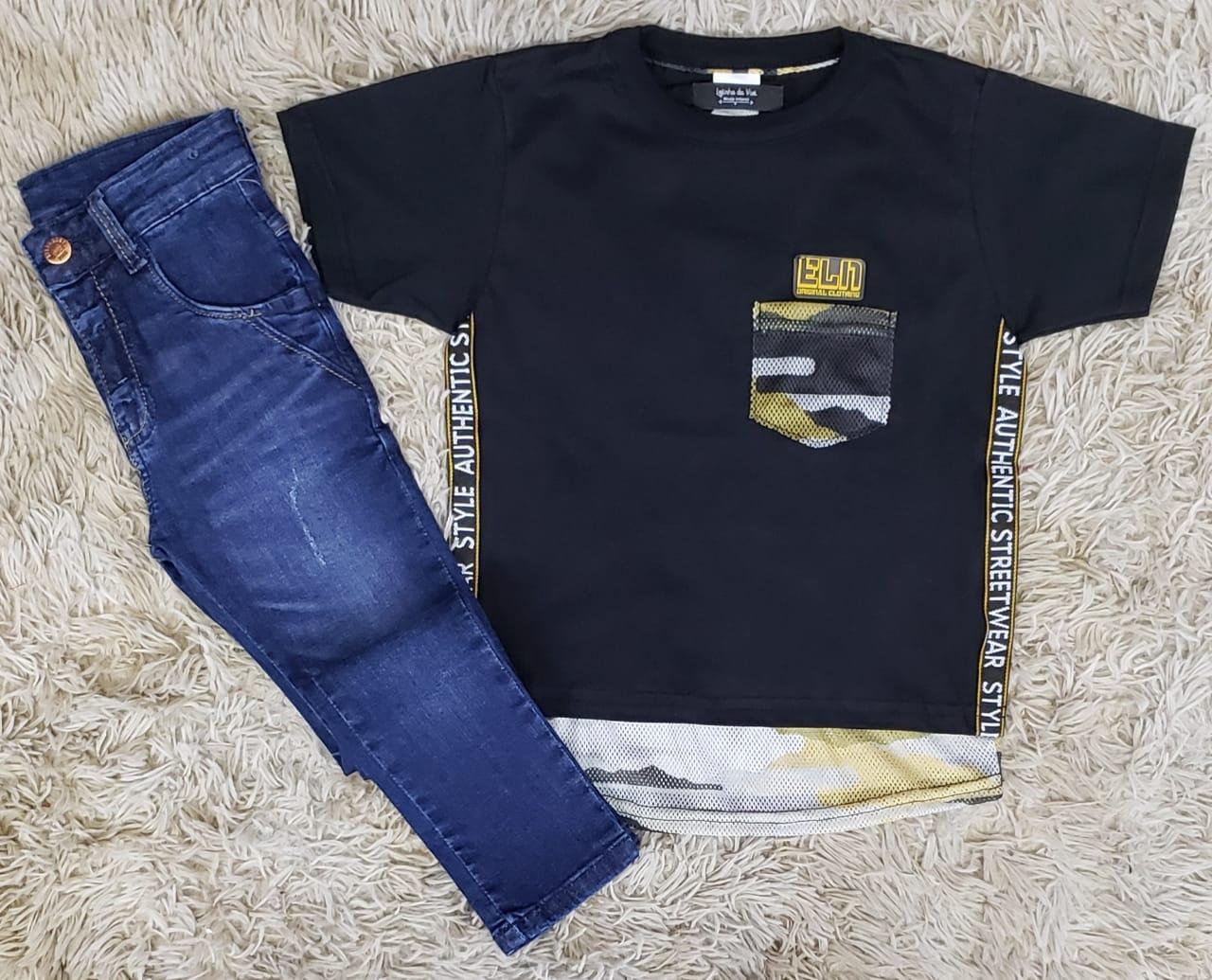 Calça Jeans com Camiseta Authentic Street