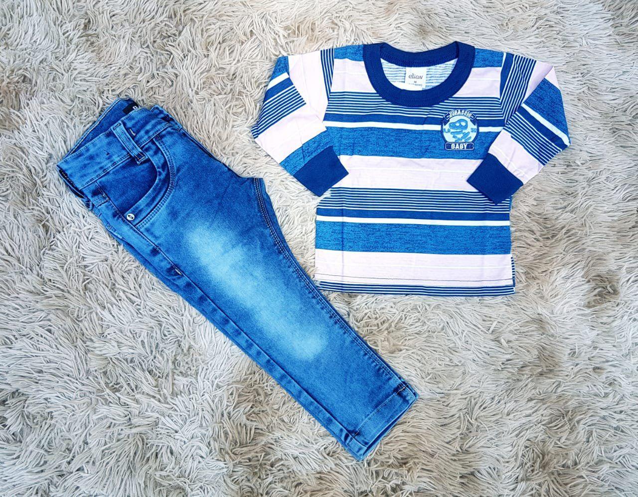 Calça Jeans com Camiseta Jurassic Baby