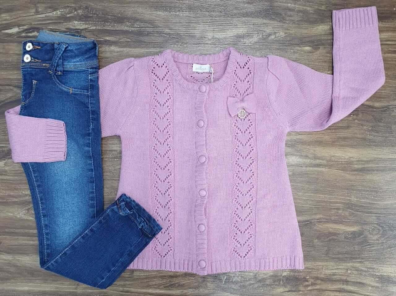 Calça Jeans com Casaco Infantil