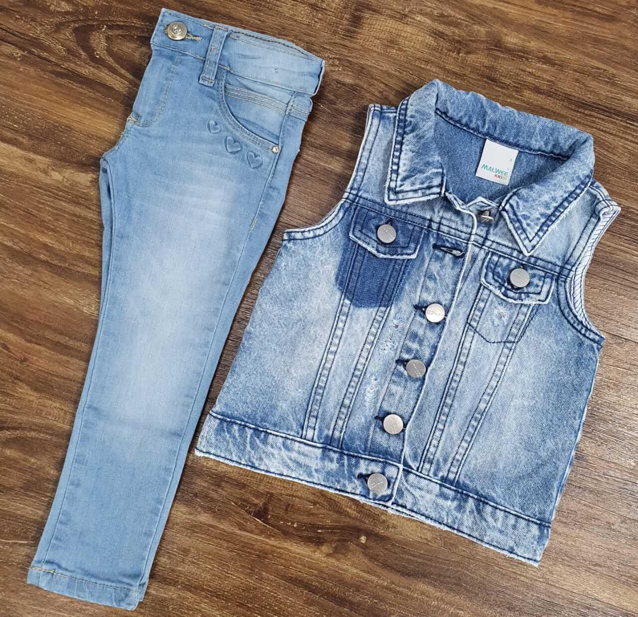 Calça Jeans com Colete Jeans