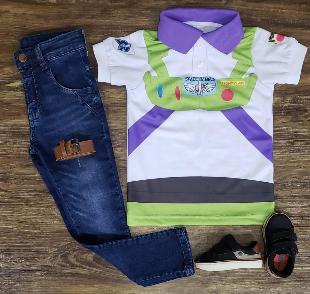 Calça Jeans com Polo Buzz Lightyear - Toy Story
