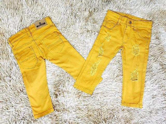 Calça Jeans Mostarda Destroyer