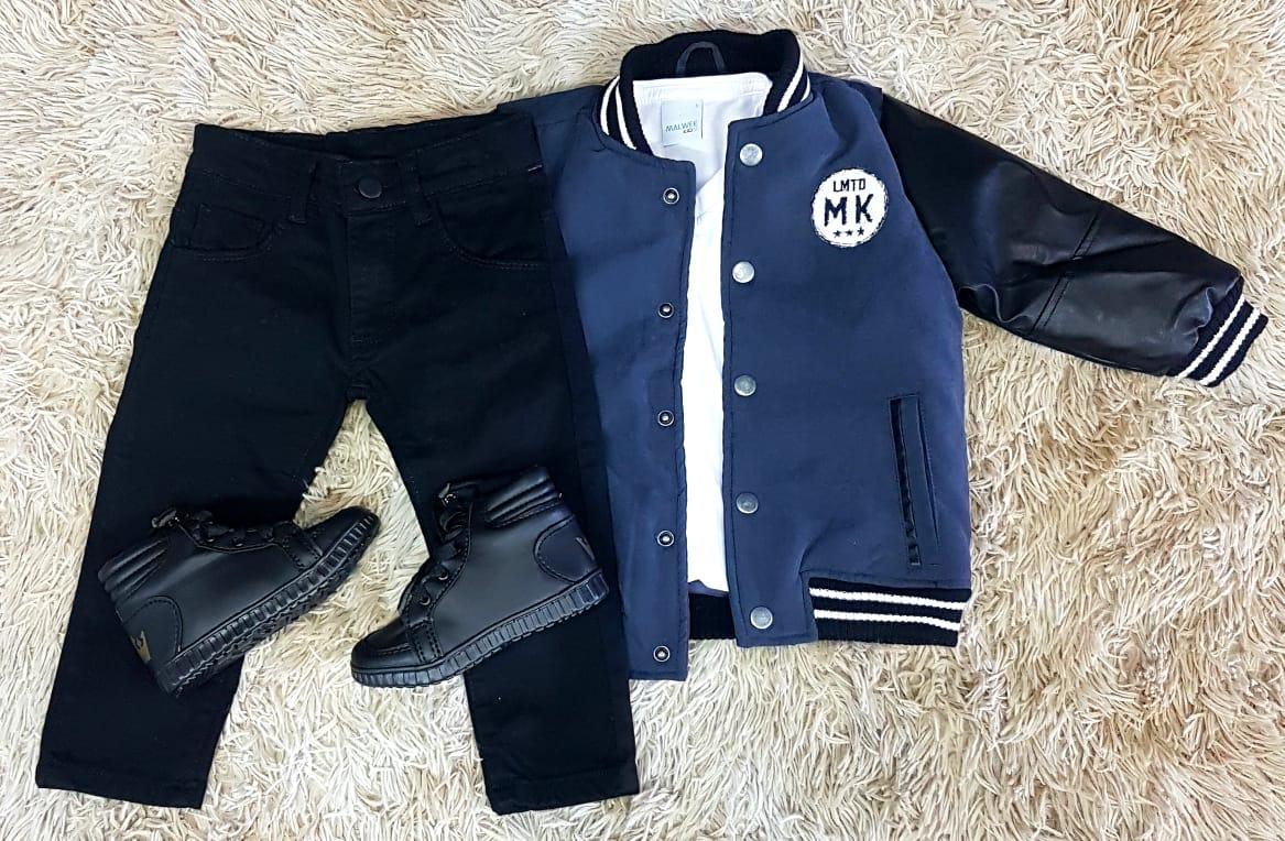 Conjunto Calça Jeans com Jaqueta Infantil