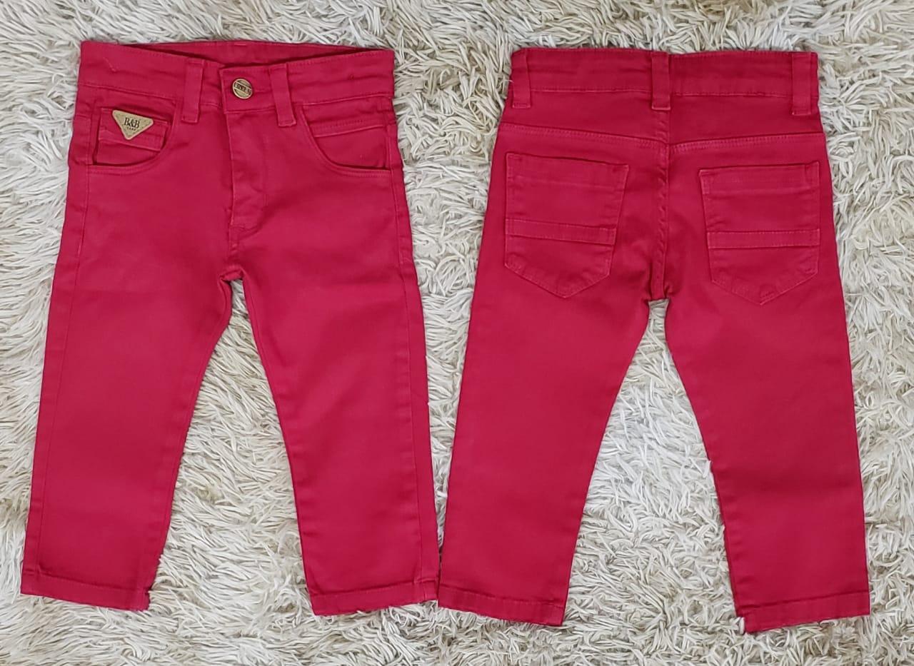 Calça Jeans Vermelha