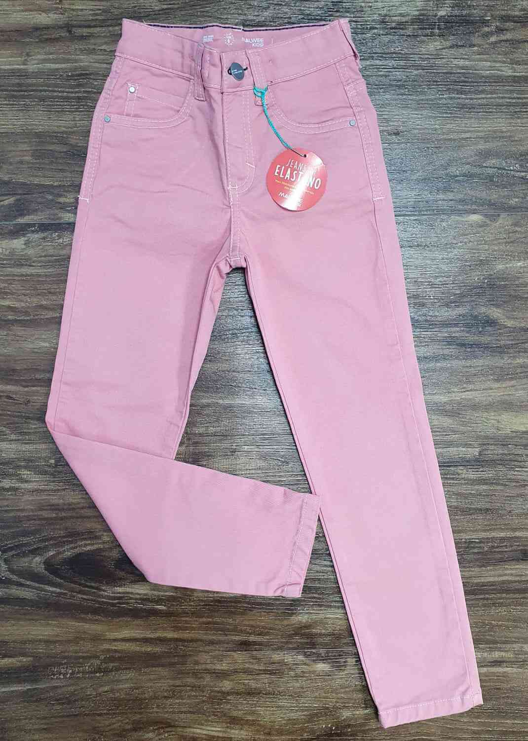 Calça Jeans Rosa Infantil