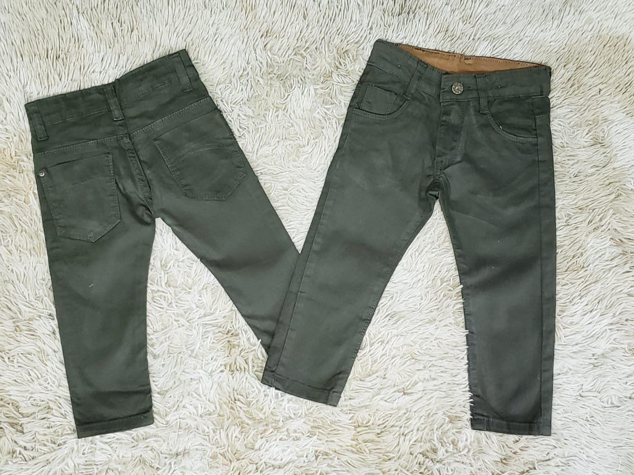 Calça Jeans Verde Musgo