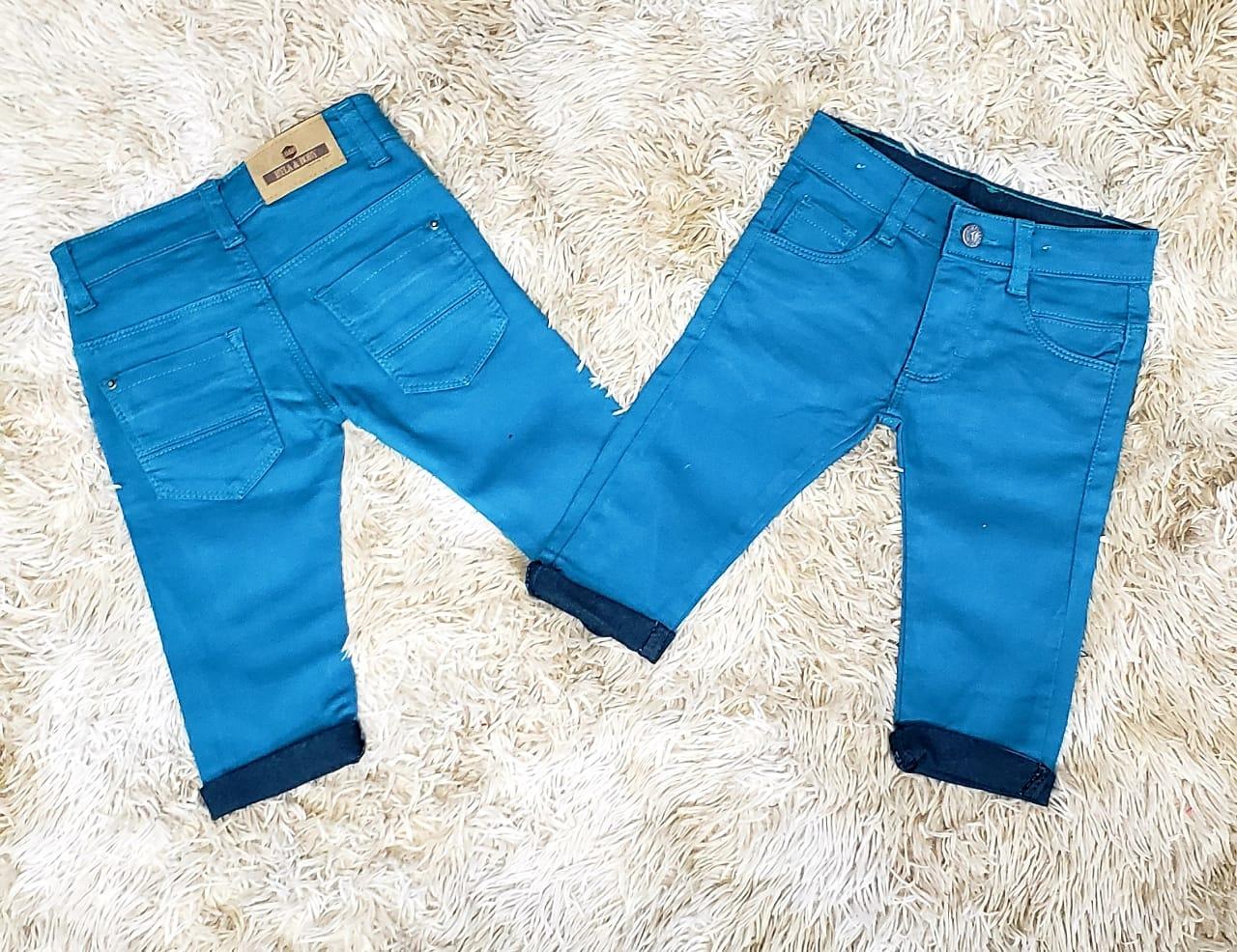 Calça Jeans Verde Petróleo