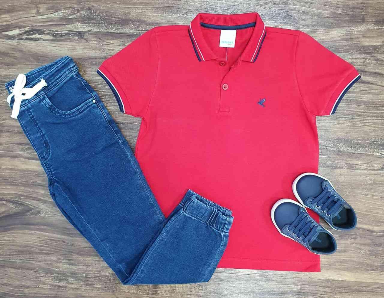 Calça Jogger com Camisa Polo Infantil