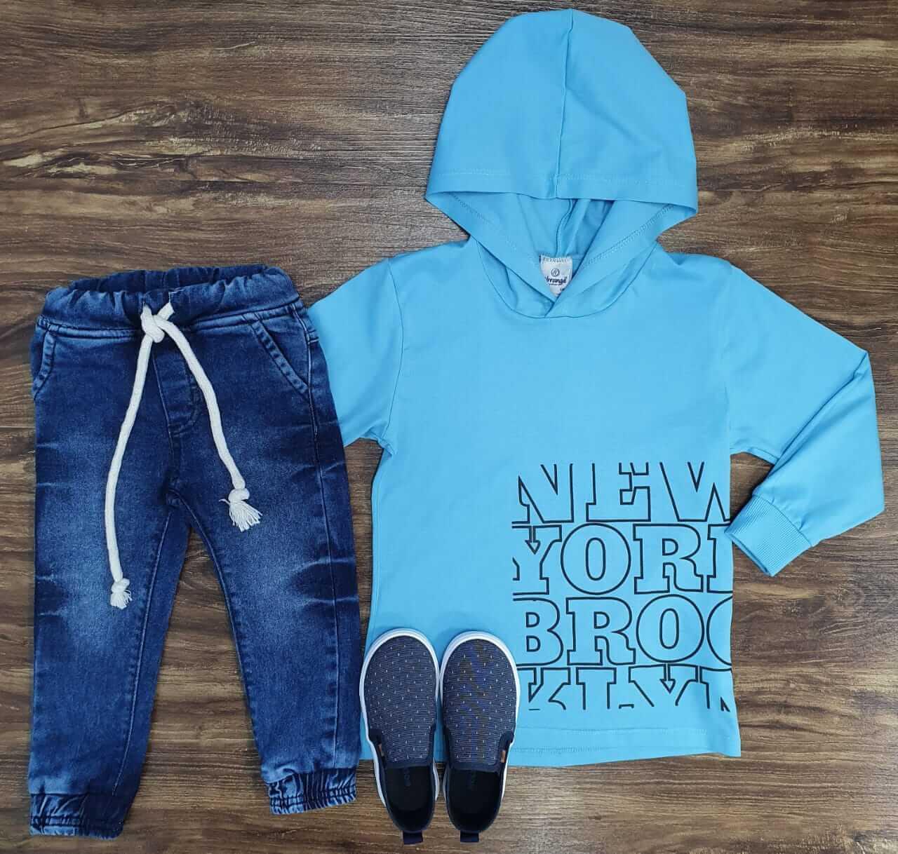 Calça Jogger com Camiseta New York Infantil