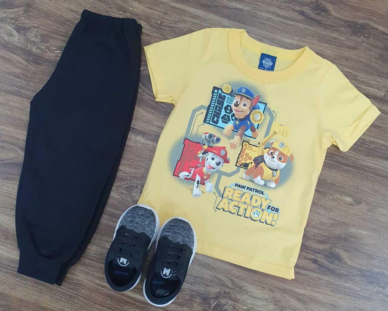Calça Moletom com Camiseta Patrulha Canina Infantil