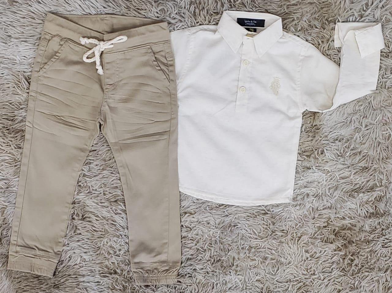 Calça Jogger com Camisa Bata Manga Longa