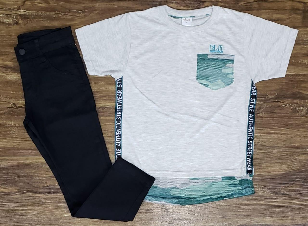 Calça Preta com Camiseta Authentic Street
