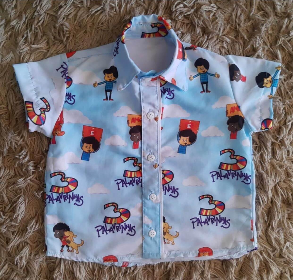 Camisa 3 Palavrinhas Infantil