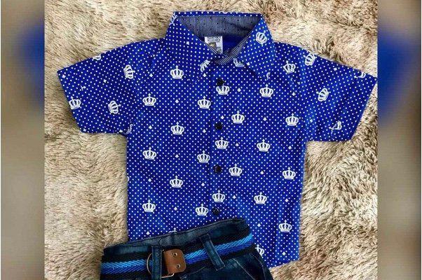Camisa Azul Coroa