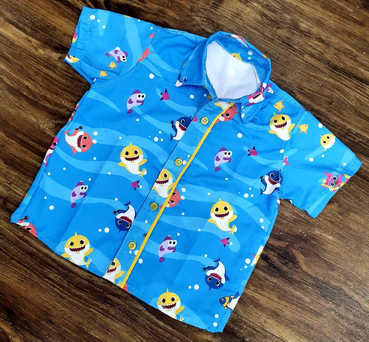 Camisa Baby Shark Azul