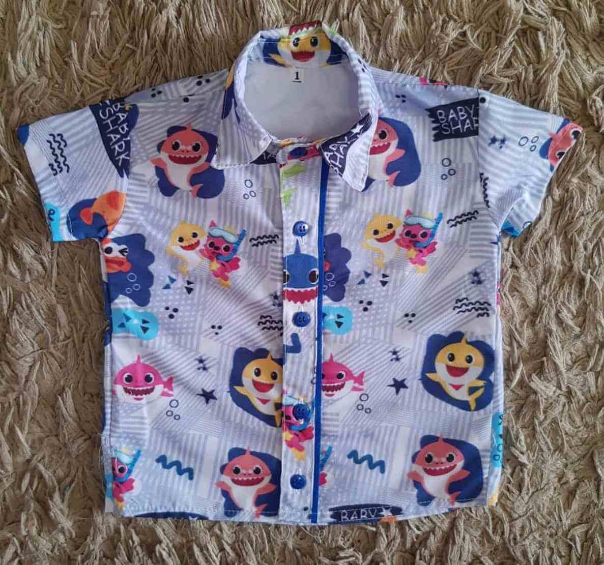 Camisa Baby Shark Infantil