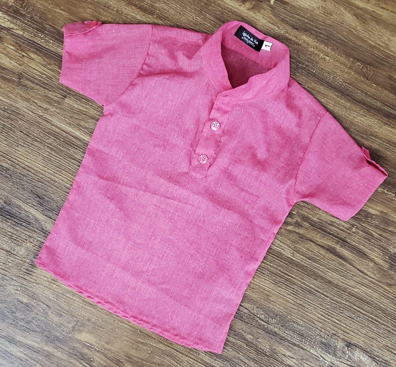 Camisa Bata Rosa
