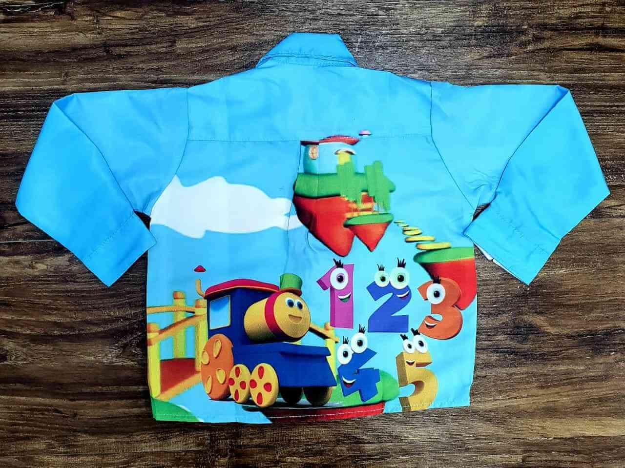 Camisa Bob o Trem Longa Infantil