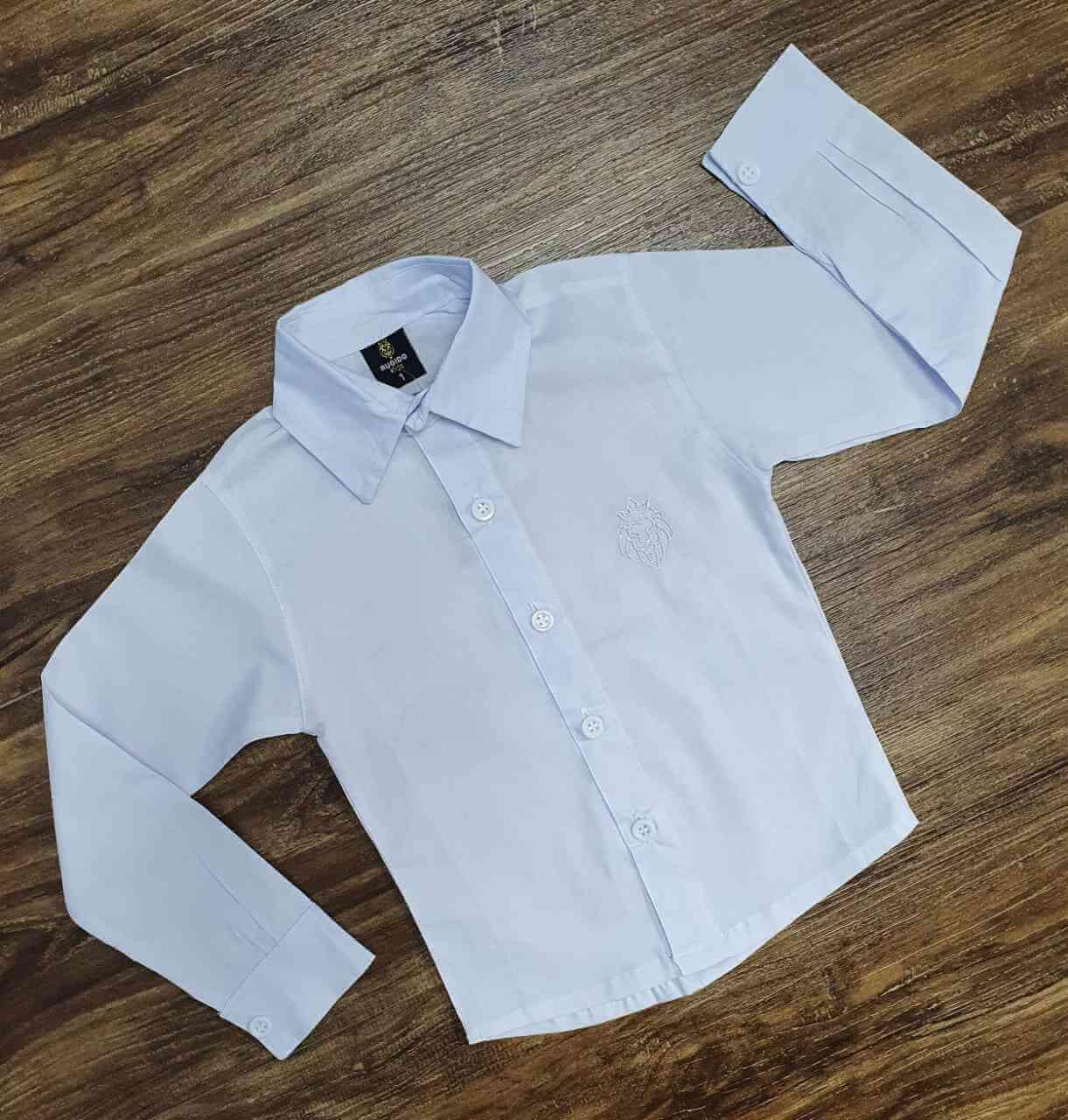 Camisa Branca Manga Longa Infantil