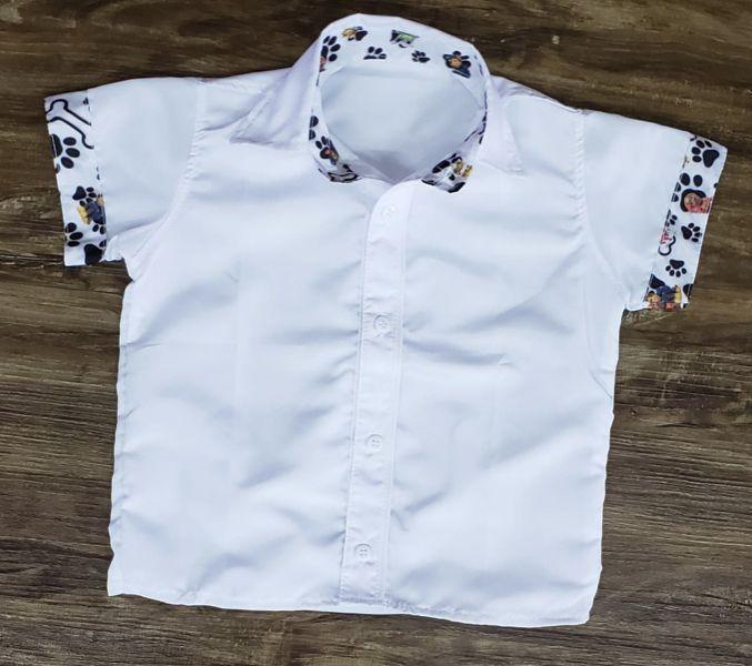 Camisa Branca Patrulha Canina