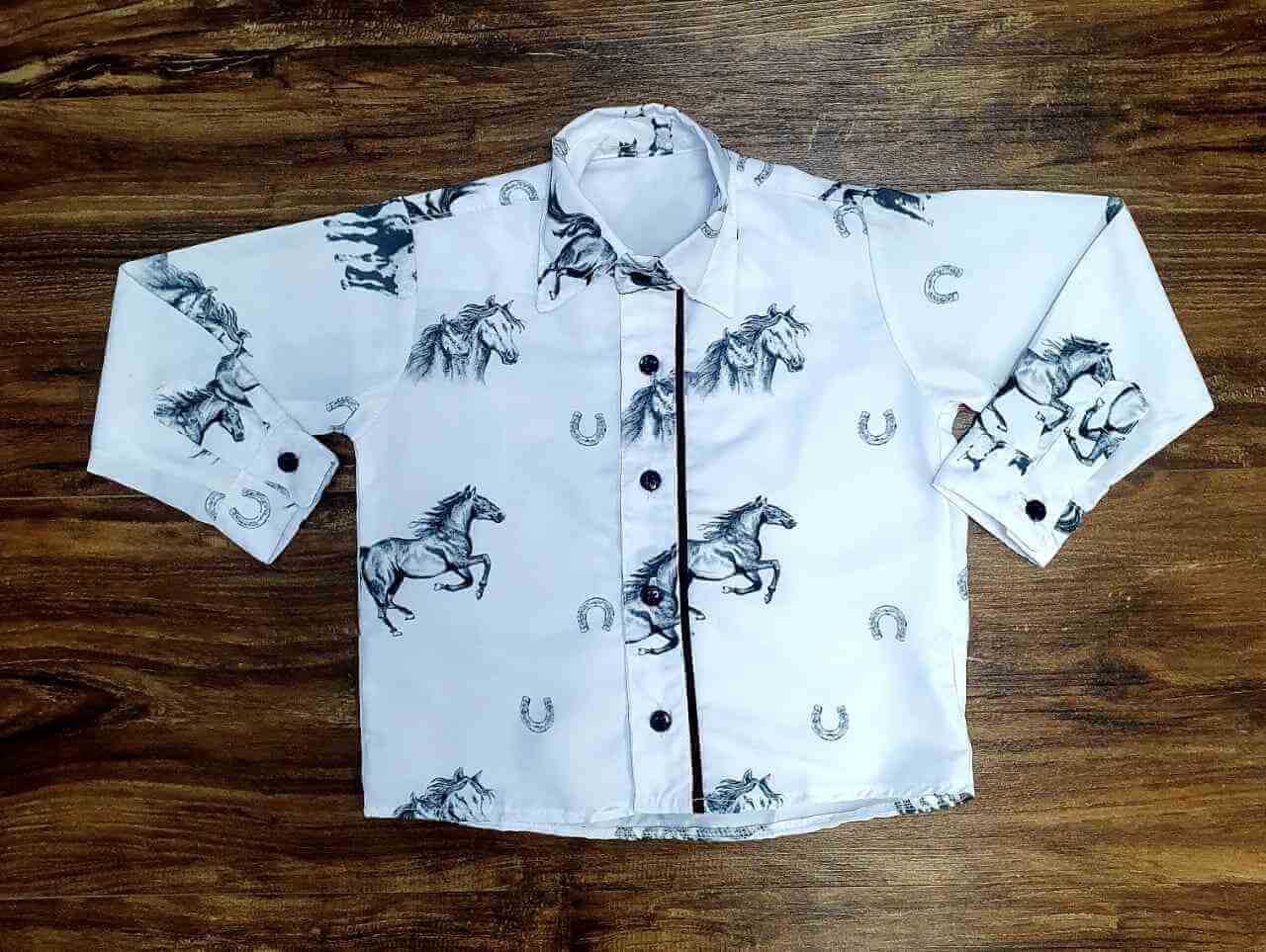 Camisa Cavalos Infantil
