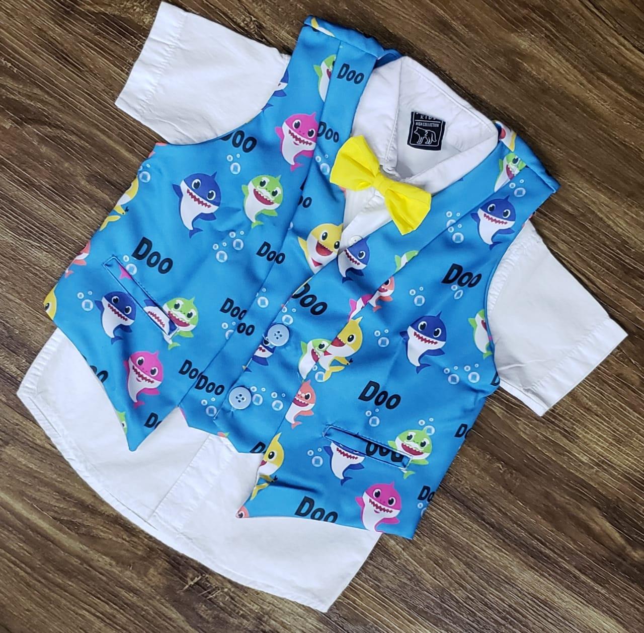 Camisa com Colete Baby Shark