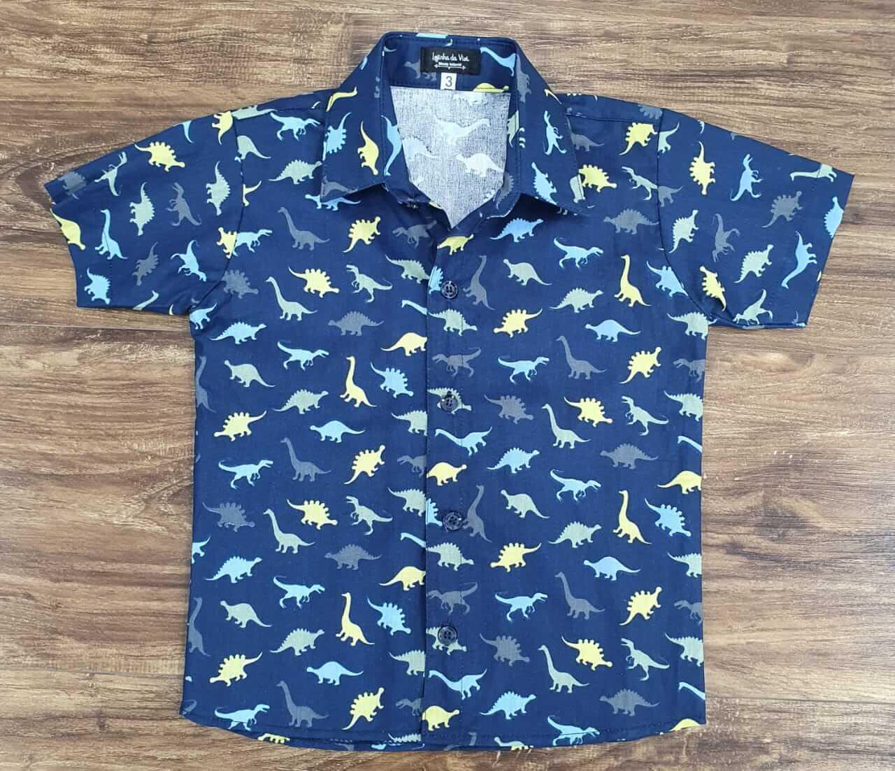 Camisa Dinossauro Infantil