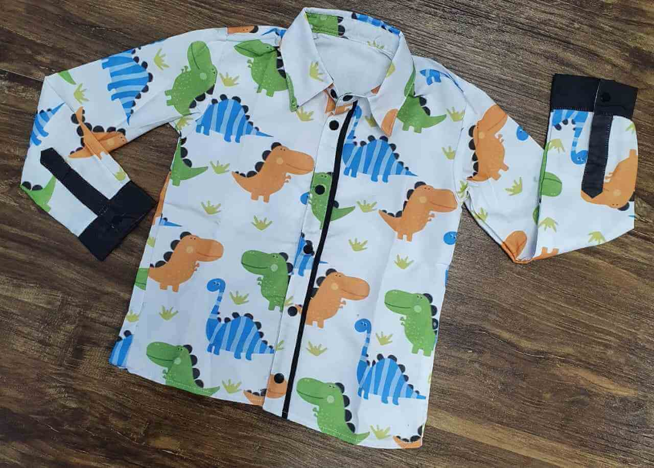 Camisa Dinossauros Manga Longa