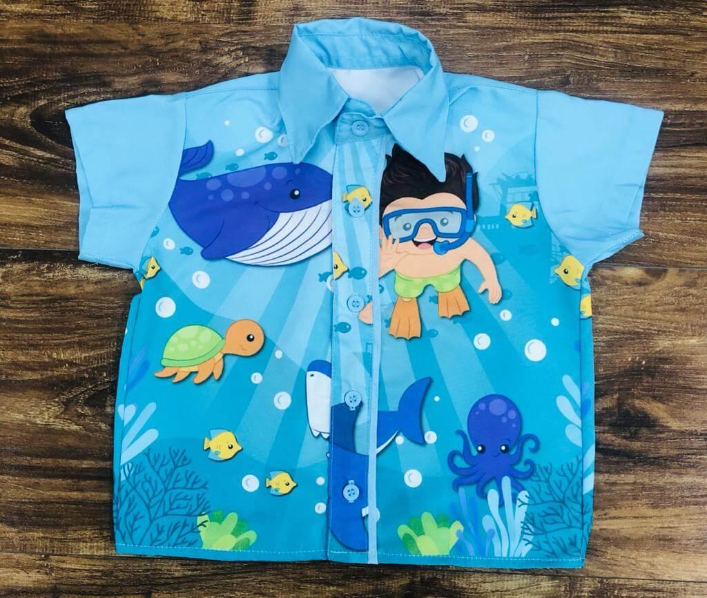Camisa Fundo do Mar