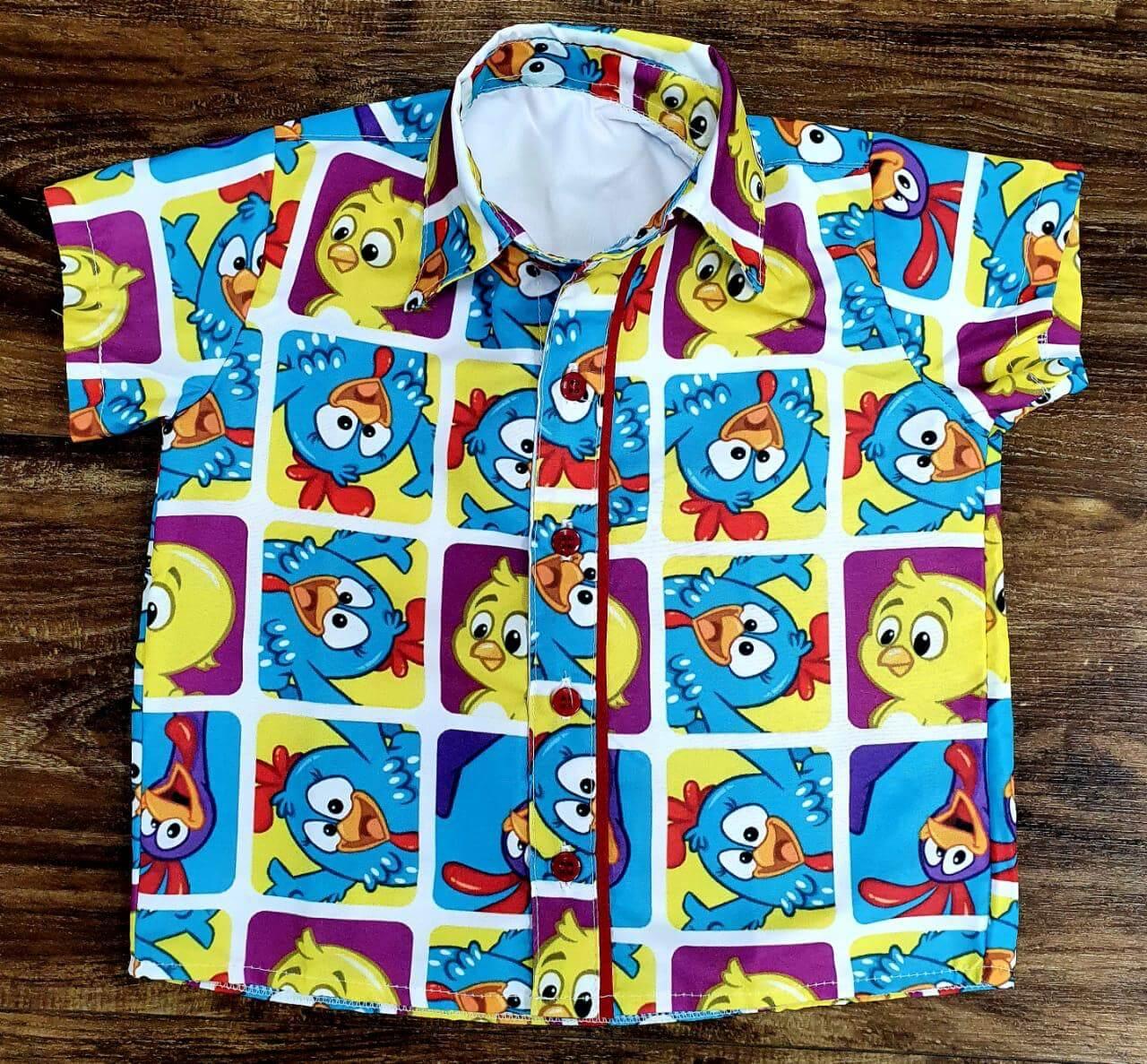 Camisa Galinha Pintadinha Colorida