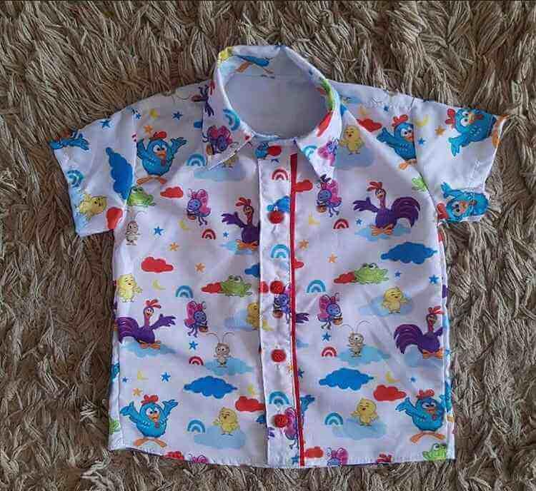 Camisa Galinha Pintadinha Infantil