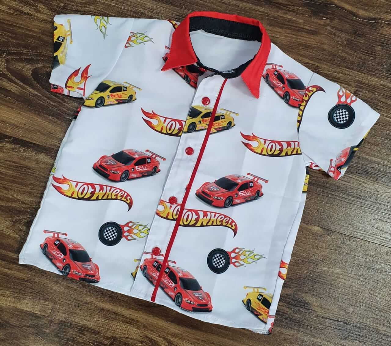 Camisa Hot Wheels Infantil