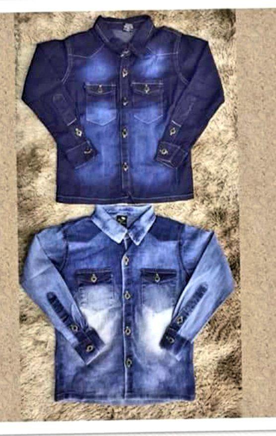 Camisa Jeans com bolso