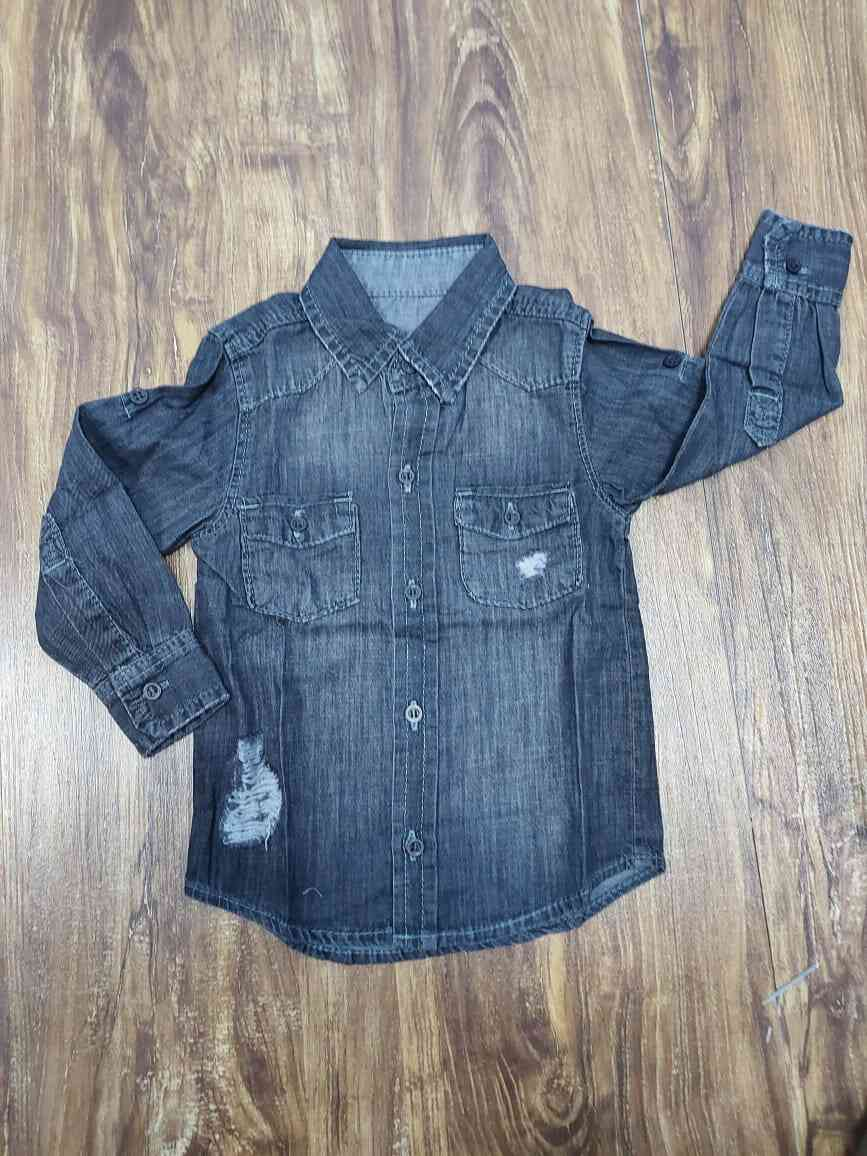 Camisa Jeans Destroyer Infantil