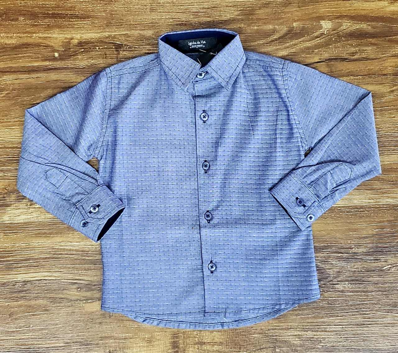 Camisa Manga Longa Azul Clara