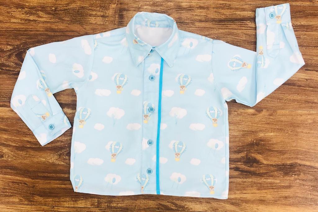 Camisa Longa Urso Baloeiro Infantil