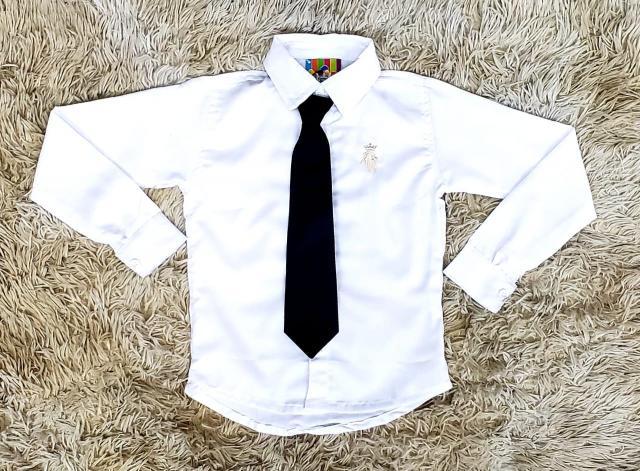 Camisa Manga Longa com Gravata