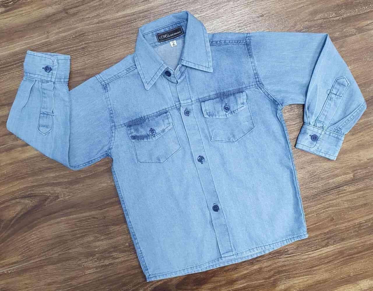 Camisa Manga Longa Jeans Clara Infantil