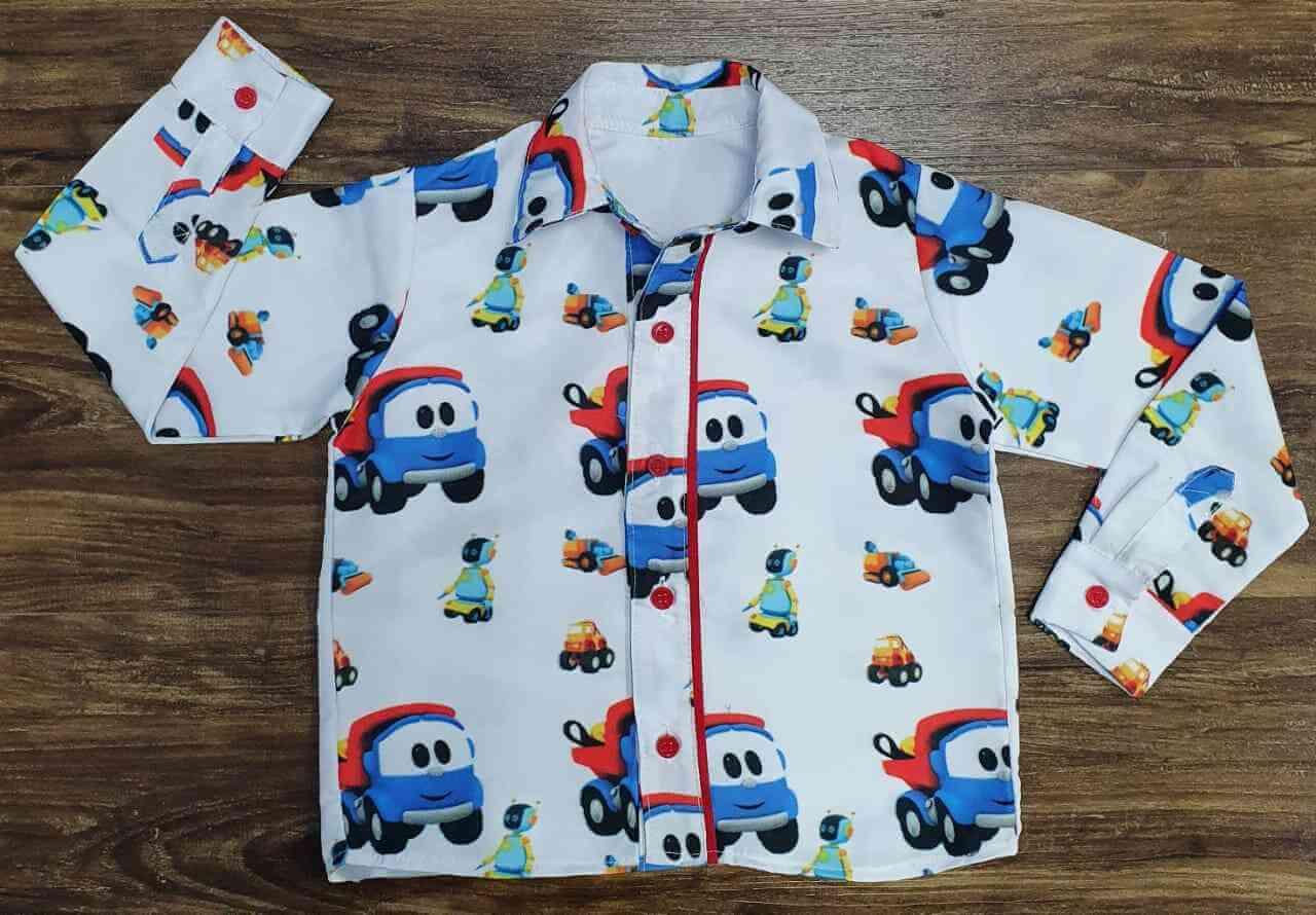 Camisa Manga Longa Léo o Caminhão Infantil
